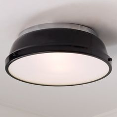 Classic Dome Enameled Ceiling Light - Shades of Light Round Ceiling Light, Ceiling Light Shades, Semi Flush Ceiling Lights, Flush Mount Ceiling, Lighting Shades, Over Sink Lighting, Basement Lighting, Flush Mount Lighting, Beach House Lighting