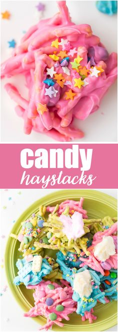 Candy Haystacks - Kids love to help make these sweet no-bake treats!