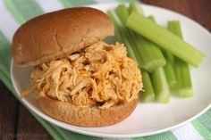 Healthy Crock-Pot Buffalo Chicken Sandwiches Recipe