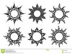 Mandala Sun Tattoo, Sun Tattoo Tribal, Moon Sun Tattoo, Tribal Sun, Sun Tattoos, Symbol Tattoos, Body Art Tattoos, Sleeve Tattoos, Night Sky Drawing