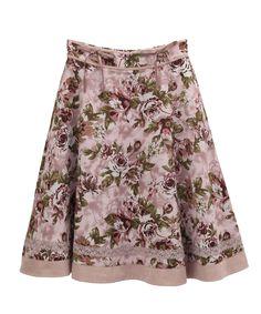 アンティーク花柄スカート