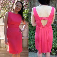 vintage 60s bright pink chiffon cocktail dress by lovestoryvintage, $68.00