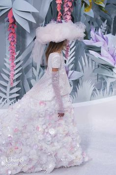 Chanel Spring 2015 Couture Paper Garden Runway