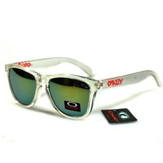 $12.99 Cheap Oakley Frogskins Sunglasses Yellow Blue Iridium Clear White Frames Deal www.racal.org Oakley Frogskins, Sunglasses Sale, White Frames, Yellow, Blue, Shopping, Hot, White Picture Frames