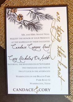 Wedding Invitation  Rustic Elegance Recycled Paper by PrintDoodles, $6.00