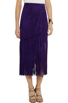 Tamara Mellon suede fringe skirt, 55% off (via http://chicityfashion.com/suede-trend/)