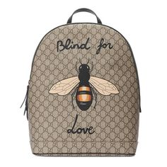 0eff7d8be7be Gucci Bee Printed Gg Supreme Backpack Gucci Men