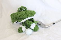 Crochet Baby Golf Hat with Pom Pom AND Crochet by StitchinPrincess First Birthday Themes, Birthday Celebration, First Birthdays, Birthday Ideas, Golf Theme, Pom Pom Hat, Accent Colors, Newborn Photos, Baby Shower Themes