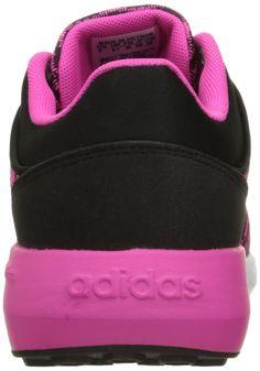 reputable site 9cef1 29bf2 adidas Womens Cloudfoam Race w Running Shoe Black White Shock Pink 8  BMedium  gt