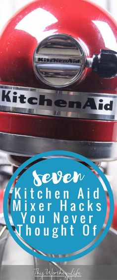 We love our Kitchen-Aid Mixer. Over the years we've been able to do so much with it besides using it for cooking. I've shared some of my best Kitchen-Aid hacks before, and now I'm sharing 7 more Kitchen-Aid Mixer hacks you never thought of. Red Kitchen Aid, Kitchen Aid Recipes, Kitchen Hacks, Kitchen Gadgets, New Kitchen, Kitchen Tools, Cooking Gadgets, Kitchen Appliances, California Pizza Kitchen