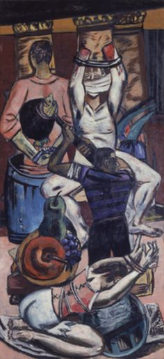 Departure (triptych - Left Panel) Artwork By Max Beckmann Oil Painting & Art Prints On Canvas For Sale Max Beckmann, Paul Klee, Max Oppenheimer, Kandinsky, Carl Friedrich, Antoine Bourdelle, Illustrator, George Grosz, Degenerate Art