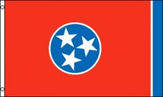 """Flag of the Day """"Volunteer State"""" Flags and flagpoles are our business.  A1 Flag & Poles for your home, RV, Tailgating and party's #flags, #flagpoles, #rvflags and #rvflagpoles  http://www.a1flagsnpoles.com/tennessee-state-flag"""