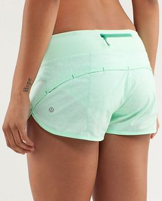 RUN:Speed Short from Lululemon. So many cute colors and patterns! Just wish they weren't so expensive