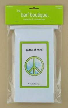 """Peace of Mind"" Barf Bag (5/pk)"