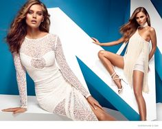 Guess by Marciano also spotlights lace and fringe for spring.