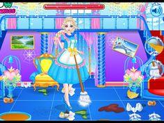 Frozen Elsa Clean Up Royal Family - Frozen Games
