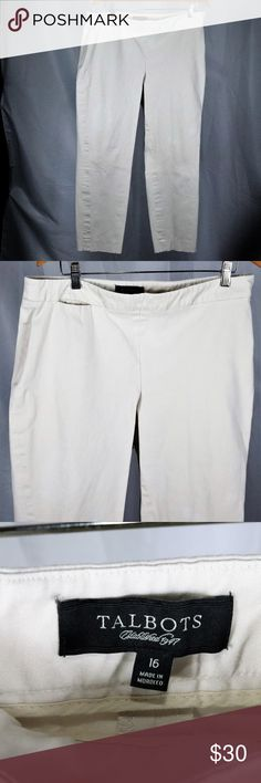 e902742096 Talbots Classic Size Zip Beige Pants Size 16 Talbots Beige Flat Front Pants