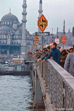 Eski Galata Köprüsü, 1978, İstanbul, Türkiye