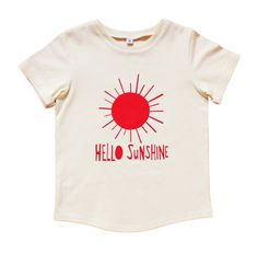 Hello Sunshine Kids Tshirt by PaulandPaulaShop on Etsy, $29.00