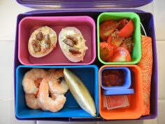 Shelly's Sausage and Pepper Deviled Eggs Bento Box