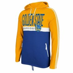 Golden State Warriors adidas Court Series Playa Pullover Hoody - Gold/Royal