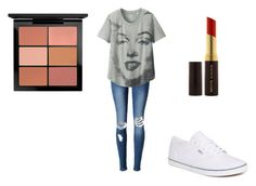 """""""marilyn monroe"""" by annamarie-15 on Polyvore featuring Uniqlo, Vans, MAC Cosmetics and Kevyn Aucoin"""
