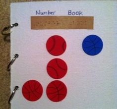 Create a counting book with objects that can be removed, via Velcro, for the child to count and then place it back on the book.  The bonus about having removable objects is that you can change the object being counted to cater to the interest of the child.