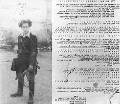 "Abba Kovner/Vilna Partisan Manifesto: ""Jewish youth! Do not trust those who are trying to deceive you""..."