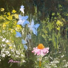 Wildflowers, painting by artist Carol Keene