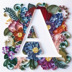 paper art 40 Examples of Creative Paper Typography Art By Anna Chiara Valentini Arte Quilling, Ideas Quilling, Quilling Letters, Paper Quilling Patterns, Quilled Paper Art, Quilling Paper Craft, Paper Crafts, Quilling Comb, Quilling Tutorial