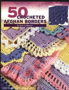 50 crochet borders via Picassa