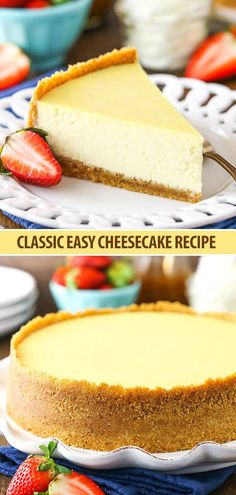 Easy Cheesecake Recipe – How to Make a Classic Cheesecake! Easy Cheesecake Recipe – How to Make a Classic Cheesecake!,Best Cheesecake Recipes Classic Cheesecake Recipe – Easy Tips for the Best Cheesecake Related posts:Koffer. How To Make Cheesecake, Classic Cheesecake, Easy Cheesecake Recipes, Easy Cookie Recipes, Cheesecake Cake, Healthy Recipes, Baked Vanilla Cheesecake, Best Homemade Cheesecake Recipe, Cheesecake Recipe With Lechera
