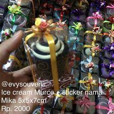 Souvenir Ice Cream Murce, warna campur tidak bisa memilih ❤️💗💚💙💜💛 Rp…