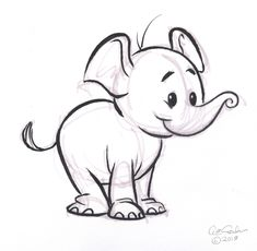 Coloring:How To Draw A Cartoon Elephant Step By Step Together With How To Draw Cartoon Animals Elephant Plus How To Draw A Cartoon Elephant How To Draw A Cartoon Elephant Cartoon Drawings Of Animals, Cartoon Girl Drawing, Cartoon Sketches, Cute Animal Drawings, Animal Sketches, Illustration Sketches, Drawing Sketches, Baby Cartoon, Drawings Of Elephants