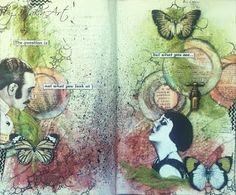My journey through the Scrapbookworld...: *Art Journal - Lace*