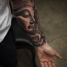 Smooth and delicate yet powerful. This could exactly be what this Buddha tattoo defines. The details on the features of Buddha makes it an interesting and beautiful piece of art that's worthy to be inked in your forearm.