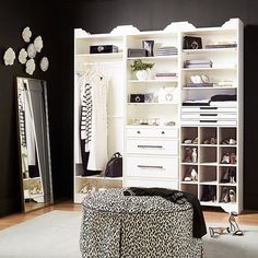 Ikea Closet, Closet Storage, Bedroom Storage, Closet Organization, Organization Ideas, Closet Rooms, Master Closet, Walk In Closet, Glam Closet