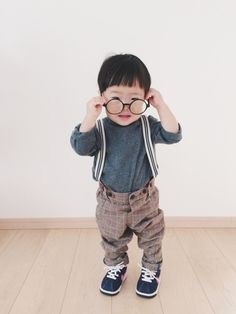 くるみるくさんのメガネ「korea 」を使ったコーディネート