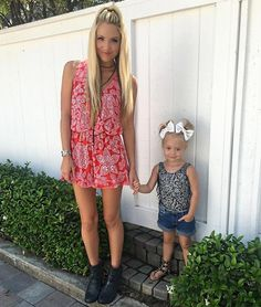 The cutest mommy + daughter duo. @savv_soutas in the Show Me Your Mumu Riri Romper