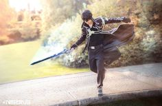 "#inserius #kirito #cosplay -   sword art online            ""In this world, a single blade can take you anywhere you want to go. And even though it's a virtual world, I feel more alive in here than I ever did in the real world"" -Kirito"