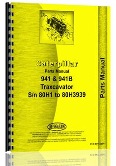Caterpillar 941 Traxcavator Parts Manual