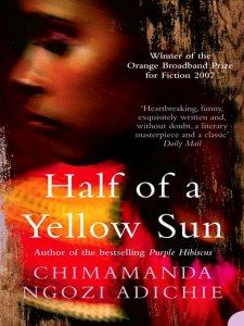 SO good. Phenomenal depiction of Biafra and wartime events. Adichie is quickly becoming one of my favorite authors.