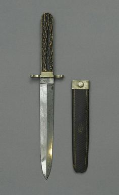 Knife & Sheath: Horn-handled dagger used by John Wilkes Booth to stab Major Henry Rathbone after shooting Abraham Lincoln.] Artifact in the museum collection, National Park Service, Ford's Theatre National Historic Site, Washington, D. Lincoln Life, Abraham Lincoln, American Civil War, American History, Lincoln Assassination, Martial Arts Weapons, Presidential History, Dagger Knife, Historical Artifacts