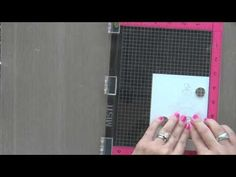 One Layer Stamping Card Featuring Misti Masking and Copic Coloring with Laura Bassen - YouTube