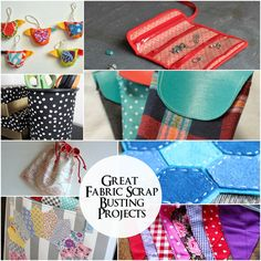 Great ideas to use up fabric scraps