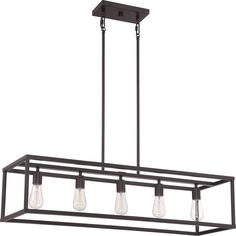 Buy the Quoizel Western Bronze Direct. Shop for the Quoizel Western Bronze New Harbor 5 Light Wide Linear Chandelier and save. Kitchen Island Lighting, Dining Room Lighting, Table Lighting, Kitchen Islands, Lighting Ideas, Kitchen Lighting Over Table, Lighting Direct, Kitchen Island Chandelier, Modern Lighting