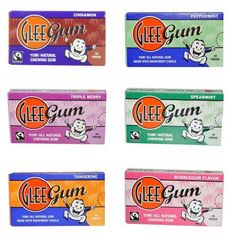 Glee Gum 6-Flavor Variety pack, 16-Piece Packages (12 Total Packages) - http://goodvibeorganics.com/glee-gum-6-flavor-variety-pack-16-piece-packages-12-total-packages/