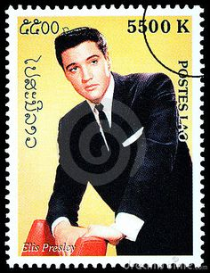 Elvis Presely Postage Stamp by StampGirl, via Dreamstime