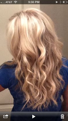 New 'do!  #Blonde #Waves #CurlingWand