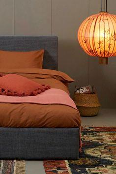 Cream And Grey Bedroom, Interior Inspiration, Interior Ideas, Kitchen Decor, Ottoman, Indoor, Interior Design, Furniture, Bedroom Ideas